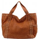 Alexandra Jordan Brown Leather Handbag