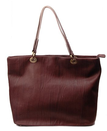Alexandra Jordan Brown Textured Leather Tote