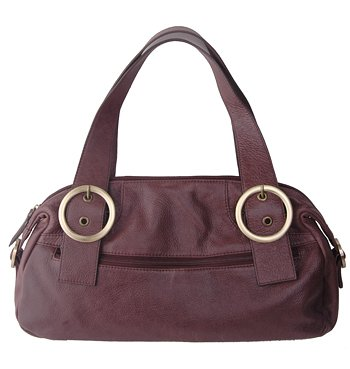 Alexandra Jordan Brown Leather Shoulder Bag