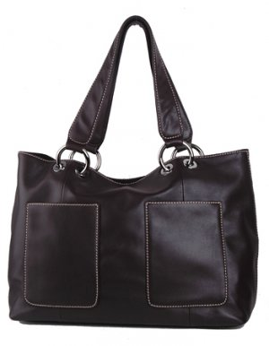Alexandra Jordan Brown Soft Leather Satchel