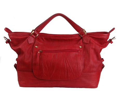 Alexandra Jordan Red Leather Handbag