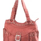 Alexandra Jordan Rouge Leather Shoulder Bag
