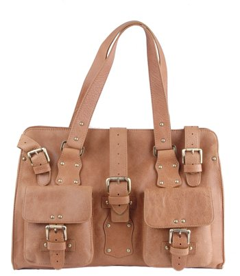 Alexandra Jordan Multi- Buckle Leather Tote