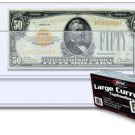 50  BCW TOPLOADERS RIGID BILL CURRENCY NOTE HOLDERS