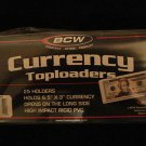 "25 PACK BCW 6.5""x3"" RIGID BILL CURRENCY NOTE HOLDERS"