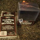 SPORTS TRADING CARD SUPPLIES TOPLOAD  & DIVIDERS  BCW