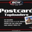 50 NEW BCW RIGID STANDARD SIZE  POSTCARD TOPLOADERS