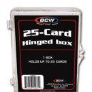 10 BCW 25 CARD HINGED BASEBALL / TRADING CARD BOXES