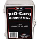 8 BCW 100 CARD HINGED BASEBALL / TRANDING CARD BOXES