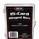 8 NEW BCW 15 CARD HINGED BASEBALL / TRADING CARD BOXES