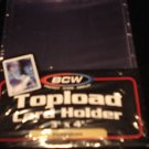 25 PREMIUM BCW BASEBALL TRADING CARD TOPLOAD HOLDER