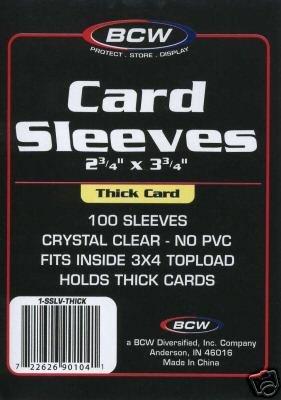 500 NEW  BASEBALL / TRADING CARD THICK CARD SLEEVES