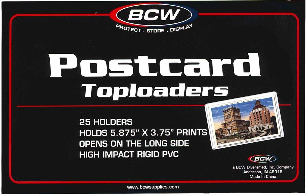 50 NEW BCW RIGID STANDARD SIZE POSTCARD TOPLOADERS LOOK