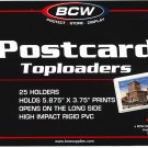 50 NEW BCW RIGID STANDARD SIZE POSTCARD TOPLOADERS LOOK