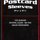 1000 BCW STANDARD SIZE POSTCARD SLEEVES 3 11/16 X 5 3/4