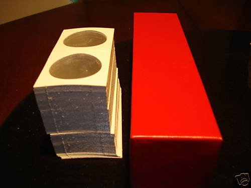 100 dollar 2x2 cardboard coin holders flips and red box