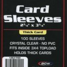 500 BCW BASEBALL / TRADING CARD THICK CARD SLEEVES