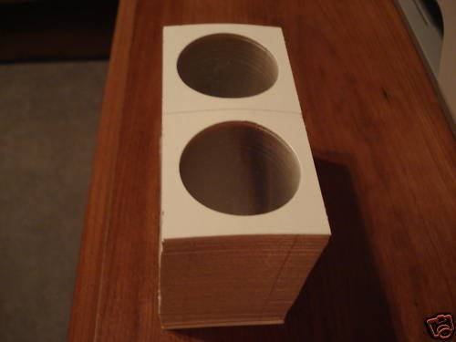 100 BCW SILVER DOLLAR  2x2 cardboard coin Flips New