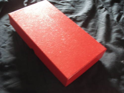 Triple Row Coin Flip Box 1.5x1.5, 10x5.25x1.5  LOOK RED