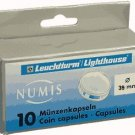 LIGHTHOUSE COIN CAPSULES FOR 39mm COINS PACK OF 10 NEW