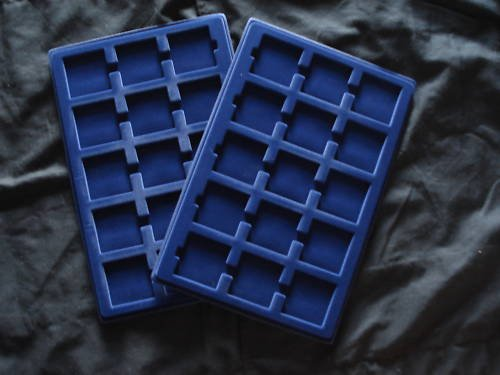 2 Pack Blue Velvet Coin Trays for 2x2 Holders Flips New