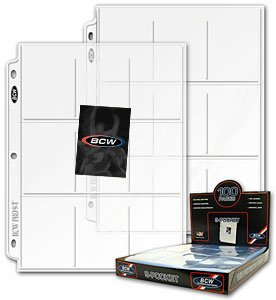 100 BCW 9-POCKET TRADING CARD PAGES MADE IN USA NEW