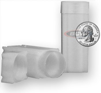 20 NEW SQUARE COIN TUBES QUARTERS MADE IN USA