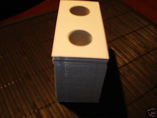 100 NICKEL 2x2 cardboard coin holders flips mylar New