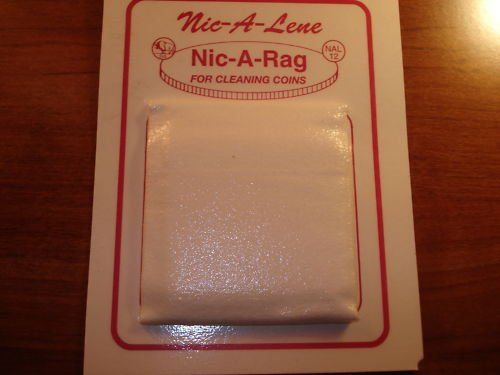 NIC-A-LENE NIC-A-RAG A SOFT CLOTH FOR USE ON COINS NEW