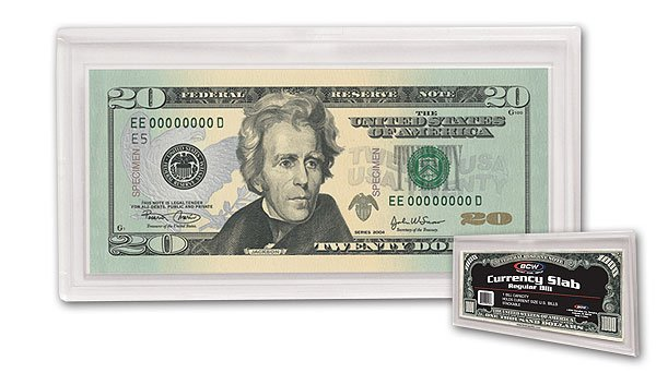 LOT OF 10 NEW  ACRYLIC CURRENCY SLABS SMALL DOLLAR BILL