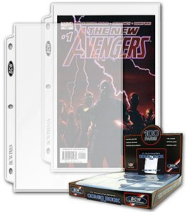 100 BCW PRO COMIC BOOK 1-POCKET PAGES FOR BINDER NEW
