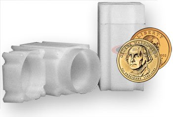 20 NEW SQUARE COIN TUBES SMALL DOLLAR PRESIDENTIAL USA