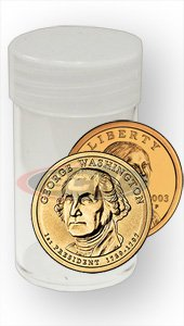 20 NEW CLEAR ROUND COIN TUBES SMALL DOLLAR PRESIDENTIAL