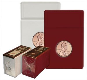 25 PACK BCW COIN DISPLAY SLABS AND FOAM INSERTS NICKEL