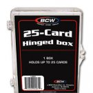 10 BCW 25 CARD HINGED  FOOTBALL / TRANDING CARD BOXES
