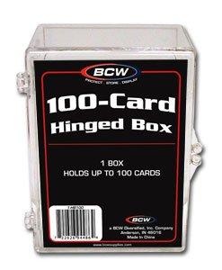 8 BCW 100 CARD HINGED  FOOTBALL / TRANDING CARD BOXES