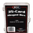 10 BCW 35 CARD HINGED  FOOTBALL / TRANDING CARD BOXES