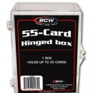 10 BCW 55 CARD HINGED FOOTBALL / TRANDING CARD BOXES