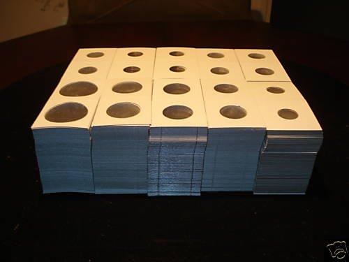 1000 NEW Asst 2x2 cardboard coin holders flips mylars