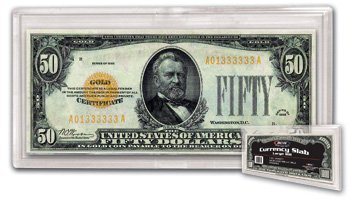 LOT OF 5 BCW ACRYLIC CURRENCY SLABS LARGE BILL NOTES