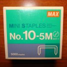 Max Flat Clinch Staples # 10-5m for Coin Stapler New