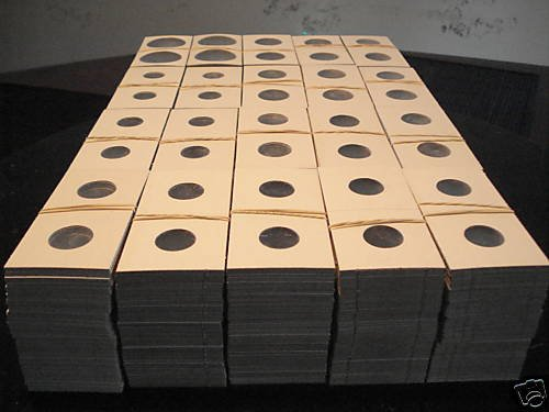 2000 Asst 2x2 cardboard coin holders flips mylars New