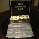 COIN COLLECTING 3 RING ALBUM+ 25 PAGES +504 2X2 HOLDERS