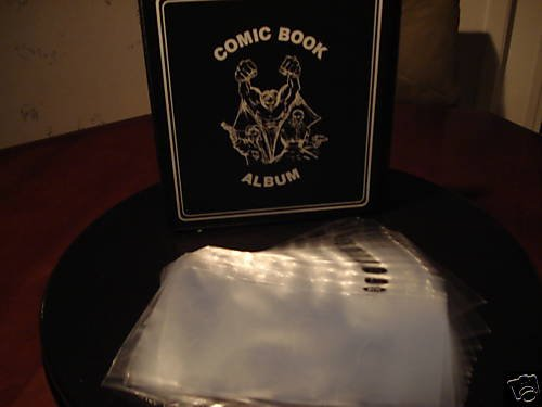 1 NEW COMIC BOOK THREE RING ALBUM + 25  1 POCKET PAGES