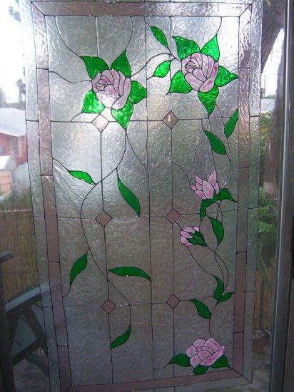 HUGE rose window cling