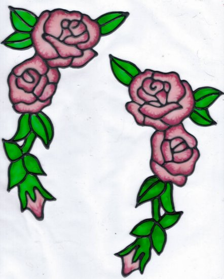 2 rose corner set