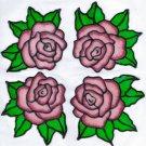 4 rose set