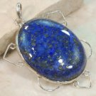 Persian Lapis .925 sterling silver pendant 1 3/4""