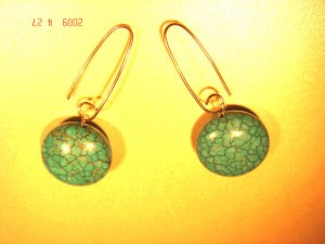 .925 silver turquoise dangle earrings