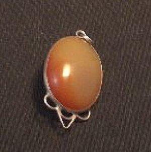 "sunset Carnelian pendant .925 sterling silver 1 5/8"""